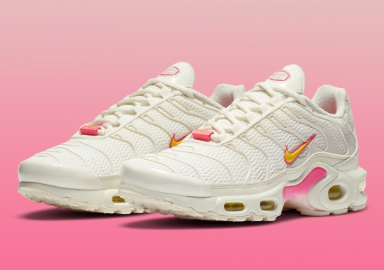 The Mesh-Uppered Nike Air Max Plus Pairs Cream With Bright Neons