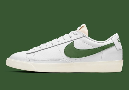 "Nike Adds ""Forest Green"" To The Blazer Low Leather"