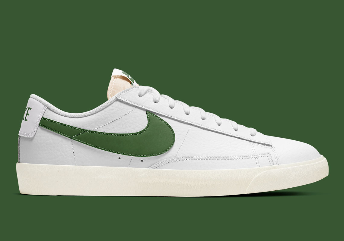 Nike Blazer Low White Forest Green CI6377-108 | SneakerNews.com