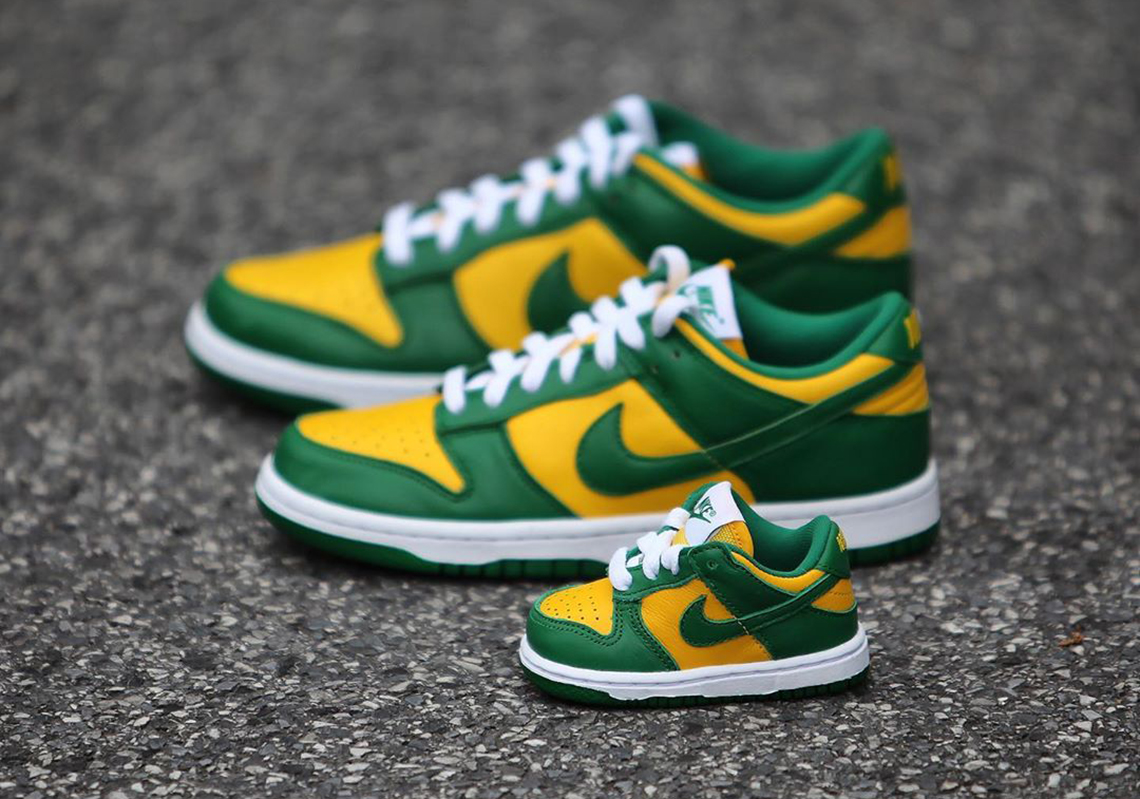 Suplemento sombra fuegos artificiales  Nike Dunk Low Brazil GS Toddler Release Date | SneakerNews.com