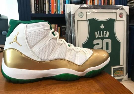 "Ray Allen Shares Rare Close Look At Air Jordan 11 ""Celtics"" PE"