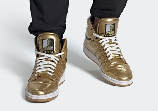 C-3PO Covers The adidas Top Ten Hi In Gold
