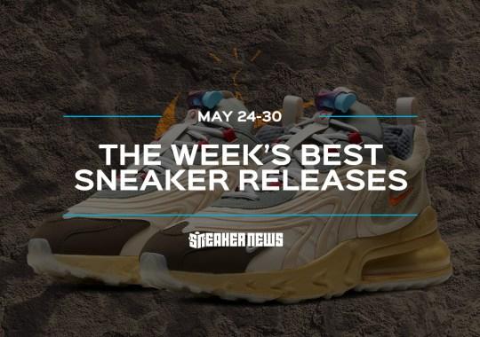 """Travis Scott's Air Max 270 And The Air Jordan 13 """"Flint"""" Lead This Week's Best Sneaker Releases"""