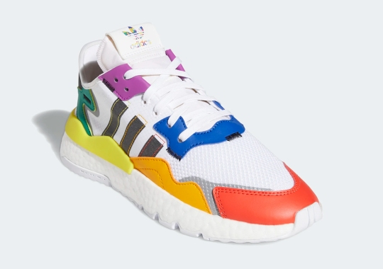 """adidas Extends Their 2020 """"Pride"""" Collection With A Rainbow Colored Nite Jogger"""