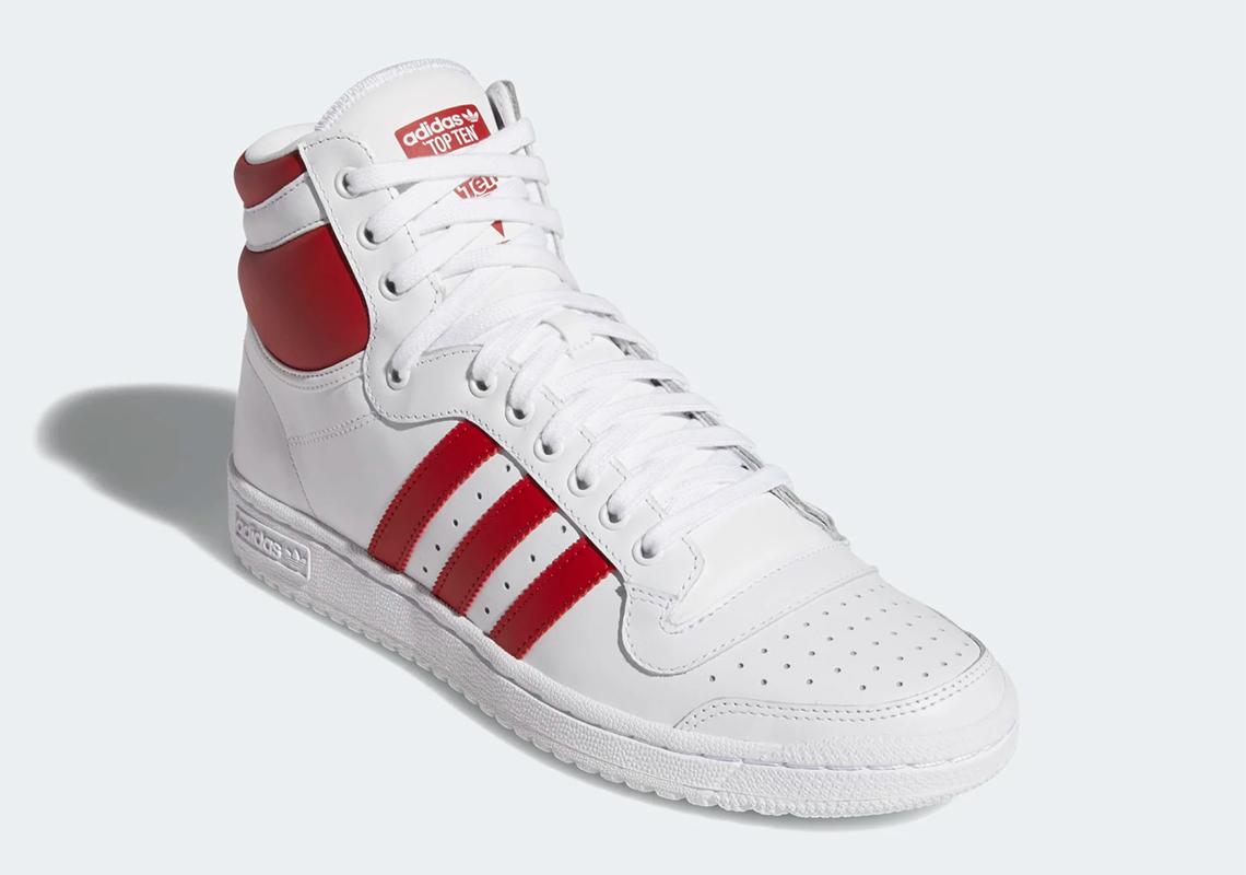 adidas Top Ten Hi White Red EF2359