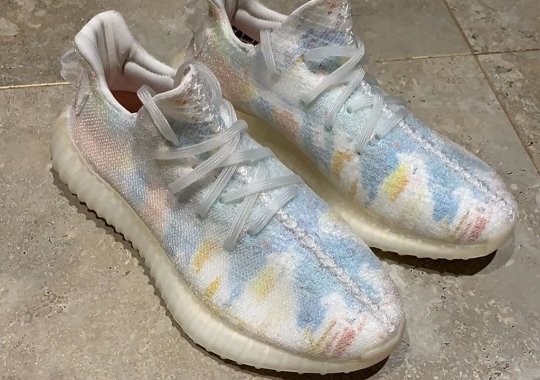 A Multi-Colored Friends And Family Yeezy Boost 350 v2 Sample Has Surfaced