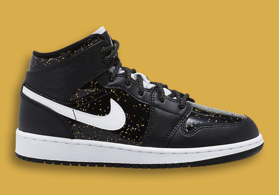 sparkly black jordans