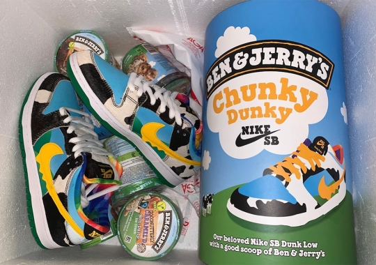"The Ben And Jerry's And Nike SB ""Chunky Dunky"" Promo Box Shaped Like A Giant Pint Of Ice Cream"