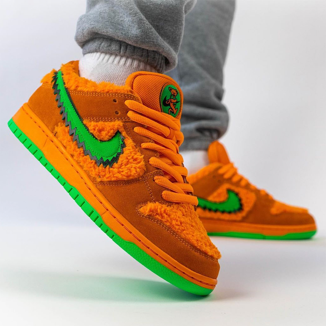 Grateful Dead Nike SB Dunk Bear Orange Green CJ5378-800 ...