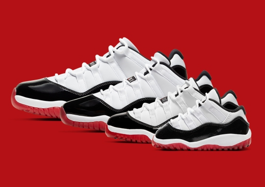 """The Air Jordan 11 Low """"Concord Bred"""" Is Releasing In Full Family Sizes"""