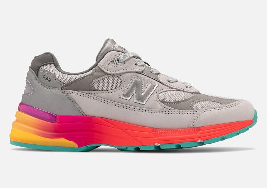 A Multi-Colored Midsole Appears Below A Simple Grey New Balance 992