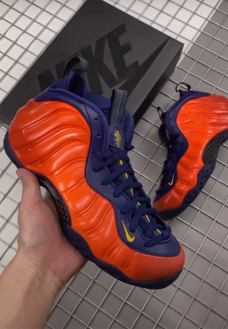 Nike Air Foamposite One Blue Mirror Spotted at Outlets ...