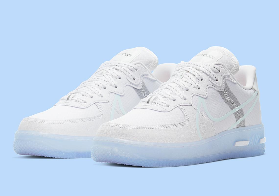 mental Pornografía Recuento  Nike Air Force 1 React Low CQ8879-100 White Grey | SneakerNews.com