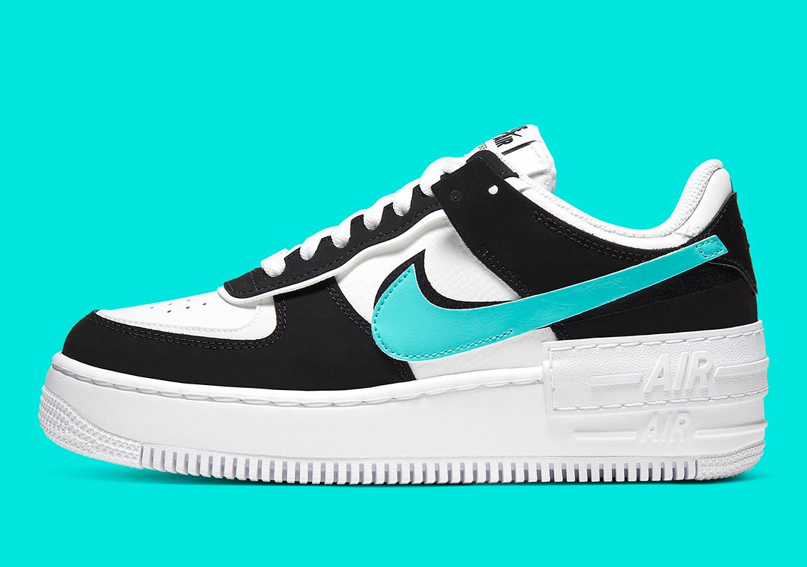 Nike Air Force 1 Shadow Black Teal