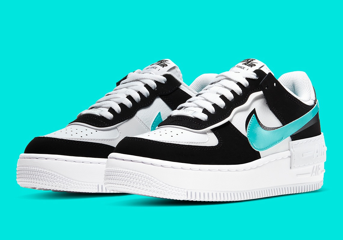 Nike Air Force 1 Shadow Black Teal Cz7929 100 Sneakernews Com Le nike air force 1 shadow sono tra le scarpe disponibili solo in taglie donna. nike air force 1 shadow black teal