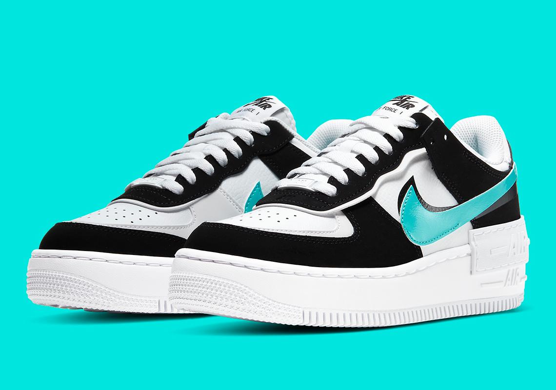 Nike Air Force 1 Shadow Black Teal Cz7929 100 Sneakernews Com Giày sneaker, giày thể thao nike nữ. nike air force 1 shadow black teal