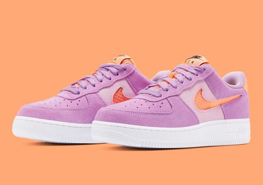 """Nike's Cut-Out Swoosh Air Force 1 Gets A Punchy """"Violet Star"""" Colorway"""