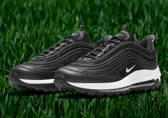 The Nike Air Max 97 Golf Surfaces In A Clean Black And White Colorway