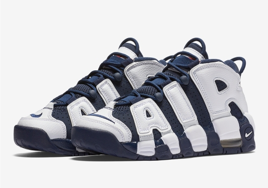 "The Nike Air More Uptempo ""Olympic"" Is Releasing In Kids Sizes"