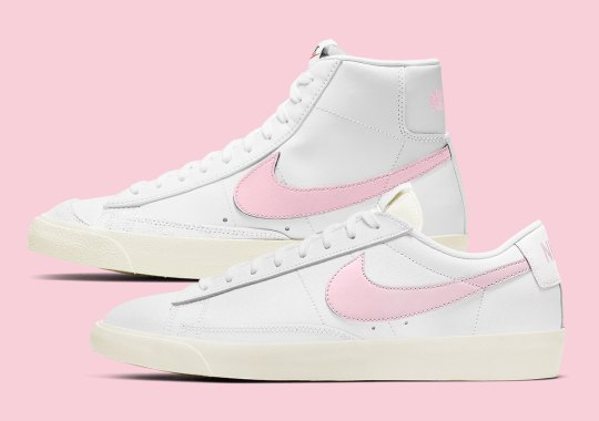 "The Nike Blazer Sees Swooshes In ""Pink Foam"""