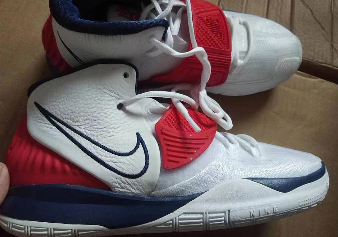 Nike Kyrie 6 USA White Navy Red | SneakerNews.com