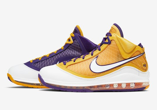 "The Nike LeBron 7 ""Media Day"" Alternates Lakers Colors"