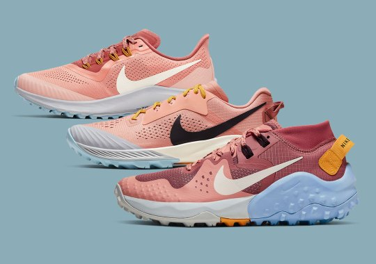 "Nike's 2020 Trail Collection For Women Appears In A ""Pink Quartz"" Capsule"