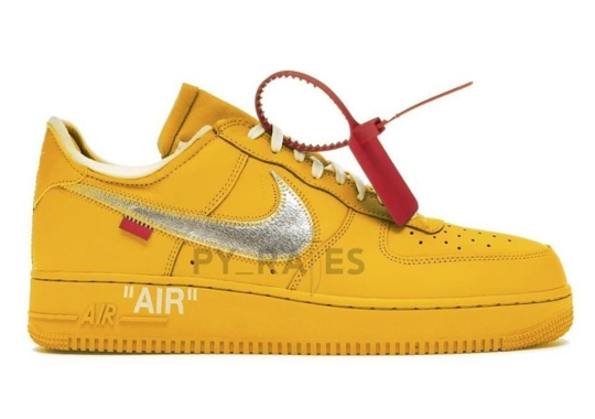 "Off-White x Nike Air Force 1 ""University Gold"" Is Dropping in 2021"