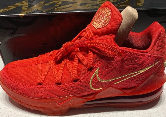 "Titan Gives The Nike LeBron 17 Low ""Agimat"" A Red And Gold Spin"