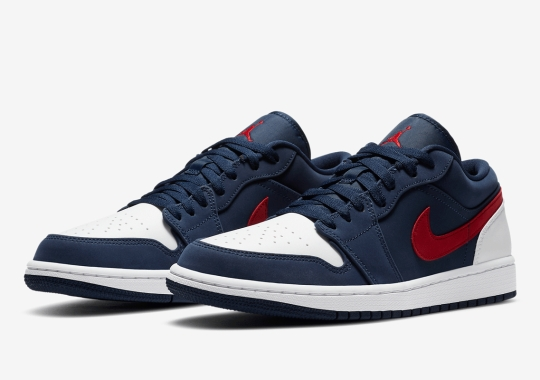 The Air Jordan 1 Low Appears In A USA Theme Ahead Of The July 4th Holiday