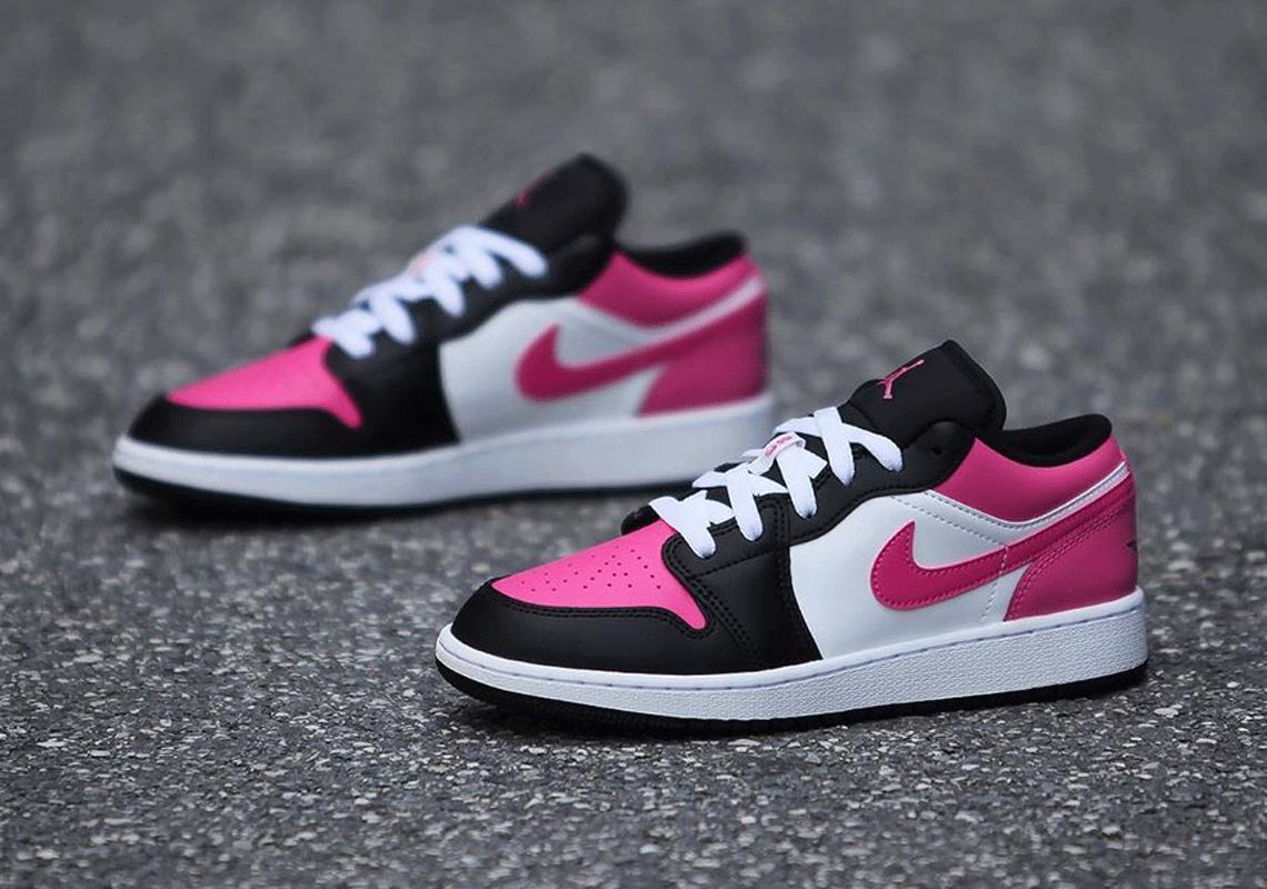 Air Jordan 1 Low Kids Black Pink