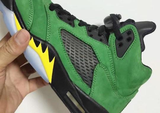 "First Look At The Air Jordan 5 ""Oregon"""