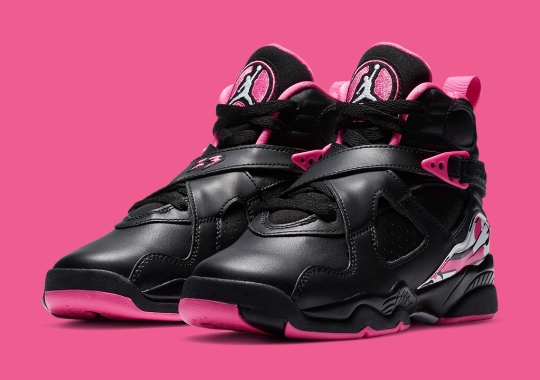 "A Grade School Air Jordan 8 Is Arriving In ""Pinksicle"""