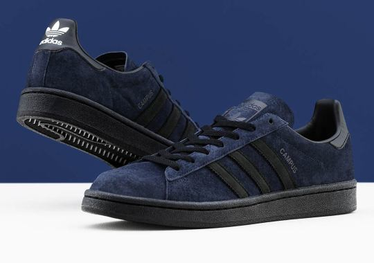KICKS LAB Employs Premium Navy Suede On Their adidas Campus Collaboration