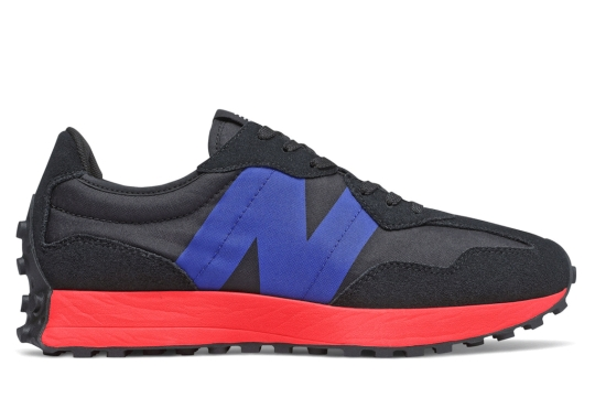 The New Balance 327 Surfaces With Bright Crimson Soles
