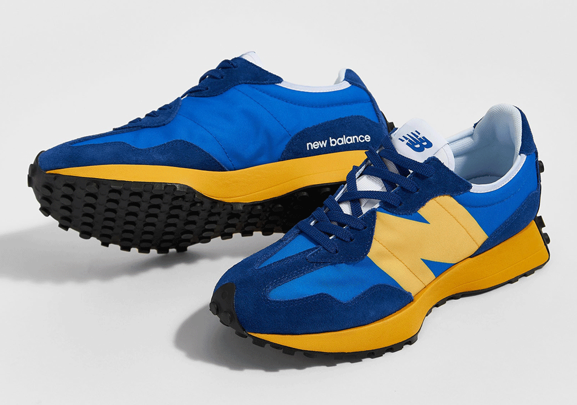 New Balance 327 Blue Yellow Release