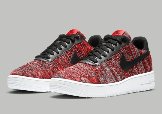 """The Nike Air Force 1 Flyknit 2.0 """"University Red"""" Is Available Now"""
