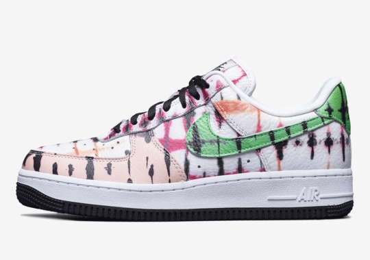 The Nike Air Force 1 Low Gets Covered In Multi-Colored Tie Dye Prints