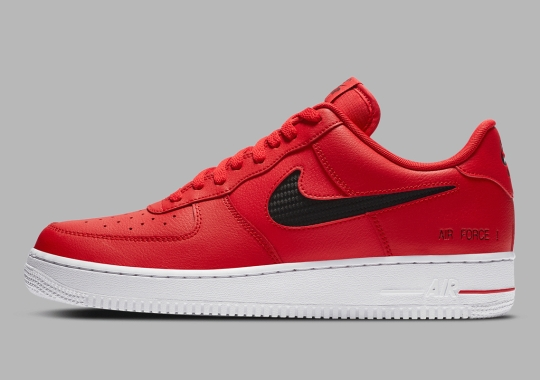 """The Nike Air Force 1 Low """"Cut Out Swoosh"""" Arrives With Carbon Fiber Underlay"""