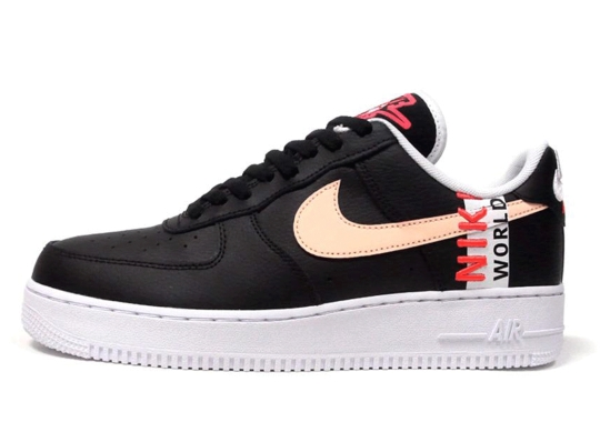 The Nike Air Force 1 Low Worldwide Surfaces In Alternate Black And Flash Crimson Colorway