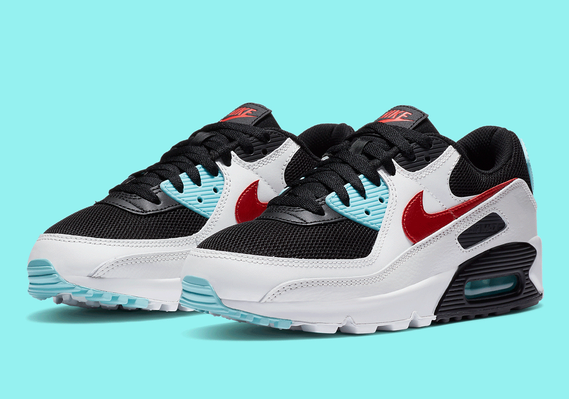 Nike Air Max 90 White, Chile Red & Black | END.