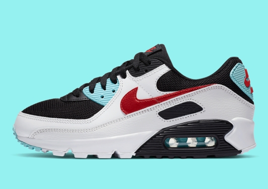 """The Nike Air Max 90 Arrives In """"Bleached Aqua"""" And """"Chile Red"""""""