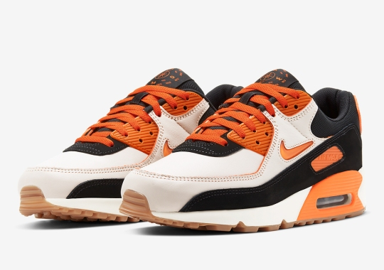 "Official Images Of The Nike Air Max 90 ""Home And Away"" In Safety Orange"