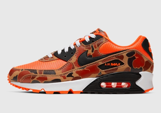 "Official Images Of The Nike Air Max 90 ""Orange Camo"""