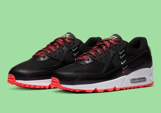 "The Nike Air Max 90 ""Worldwide Pack"" Emerges In An Alternate Black"
