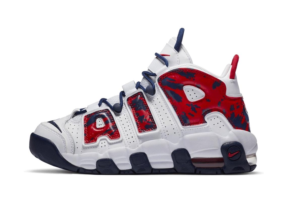 Nike Air More Uptempo Kids USA Camo