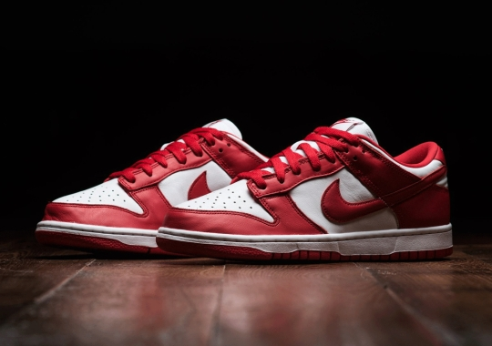 """The Nike Dunk Low SP """"University Red"""" Releases On July 1st In US"""