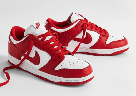 "Where To Buy The Nike Dunk Low ""University Red"""