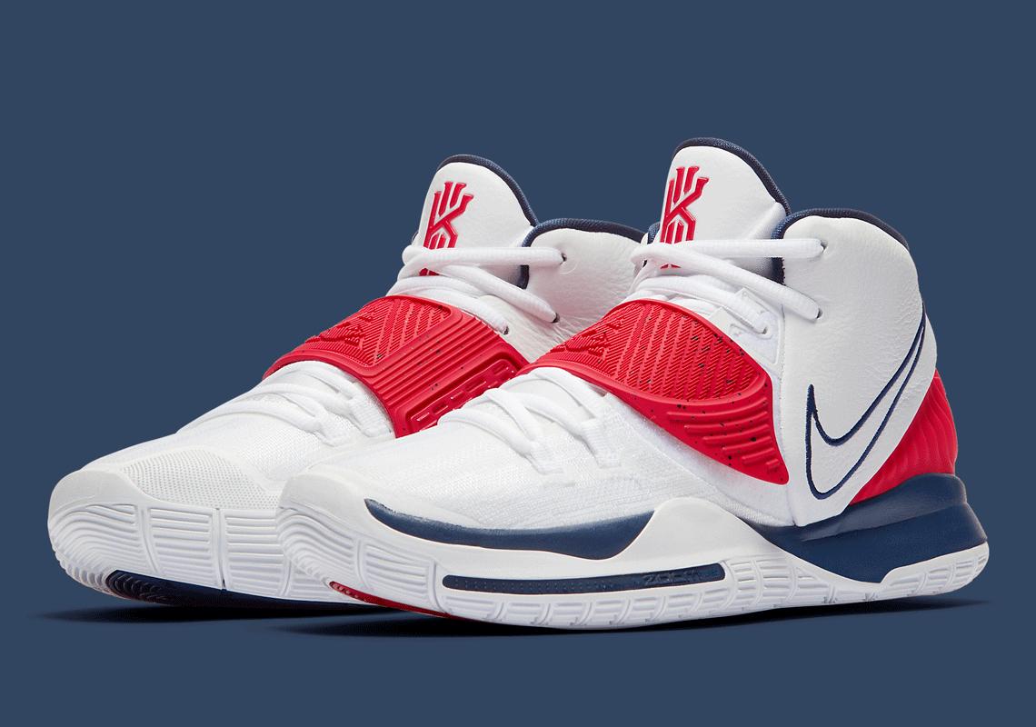 Nike Kyrie 6 Red White Blue BQ4630-102
