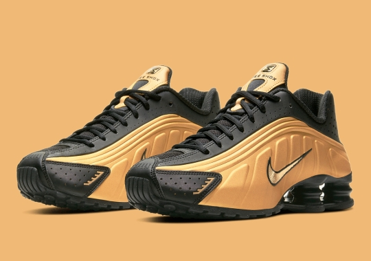 The Nike Shox R4 Gets Covered In Gold And Black